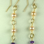 14k GF Freshwater Pearls & Amethyst Dangle
